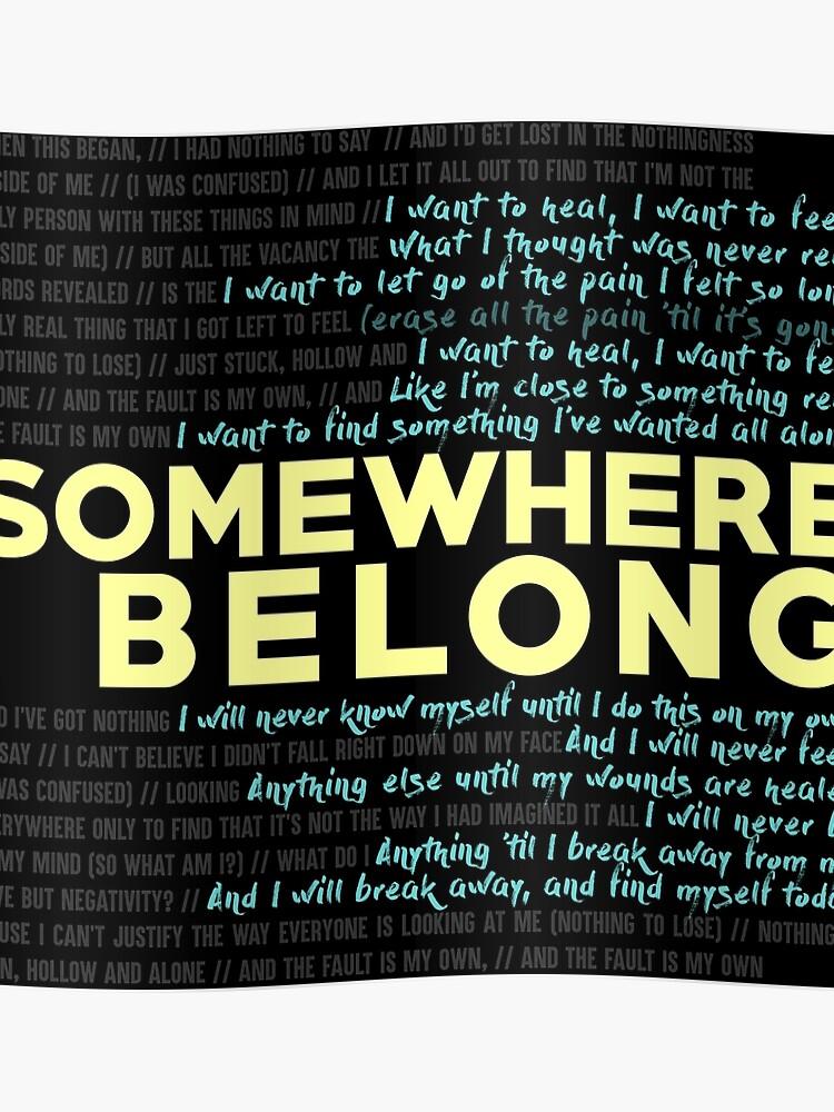 Somewhere I Belong - Linkin Park   Poster