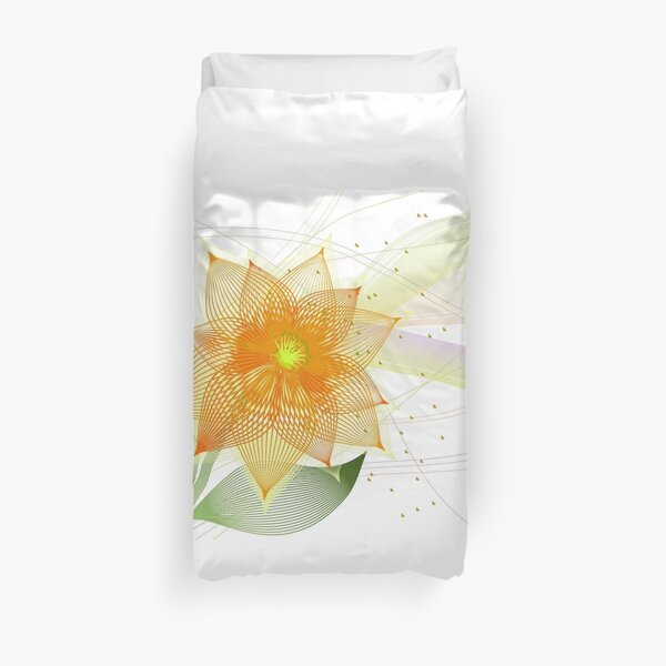 Fancy colorful abstract flower Duvet Cover