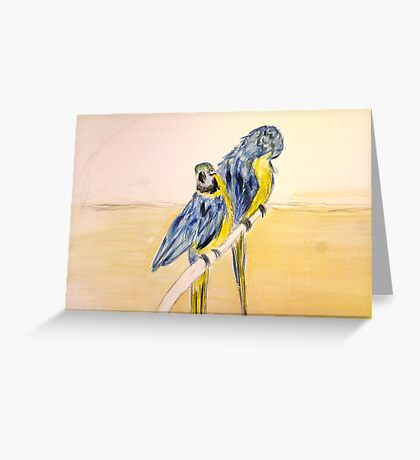 Parrot Couple Greeting Card