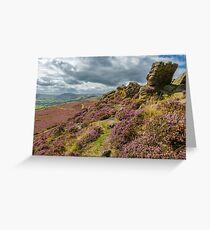 Derbyshire Heather Greeting Card