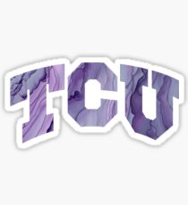 TCU marble Sticker