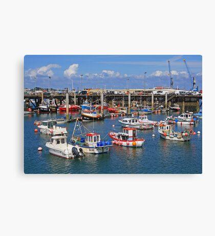 Fishing Boats, St Peter Port Canvas Print