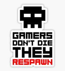 Pixel Skull Gamers Don't Die - Dark Version Sticker