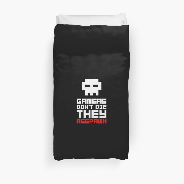 Pixel Skull Gamers Don't Die Duvet Cover