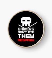 Pixel Skull Gamers Don't Die Clock