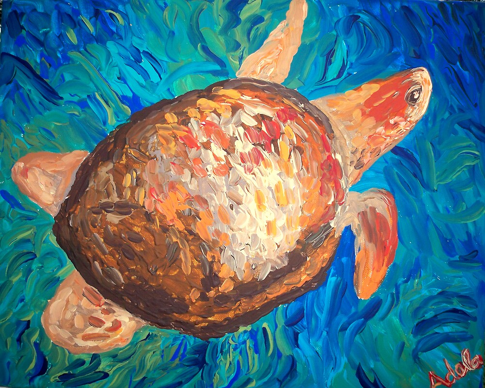 """Sea Turtle"" by Adela bellflower"