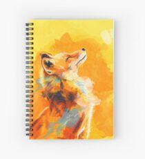 Glückseliges Licht - Fox-Illustration, Tierporträt, inspirierend Spiralblock