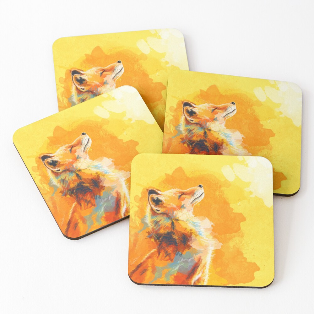 Next Set of Woodland Cork Backed 4 Placemats and 4 Coasters Squirrel Fox Animal