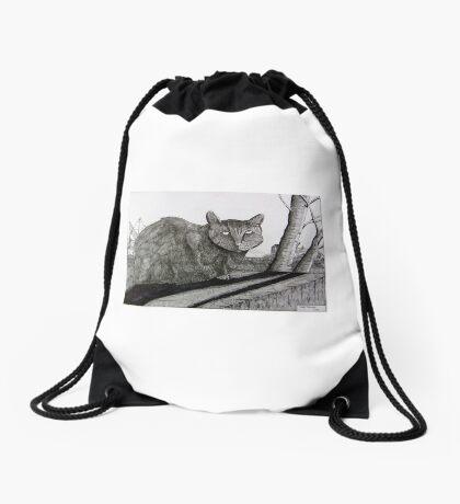265 - PONCIAU CAT - DAVE EDWARDS - INK - 2017 Drawstring Bag