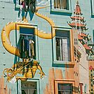 Chinatown Mural and Laundry- San Francisco California by Buckwhite