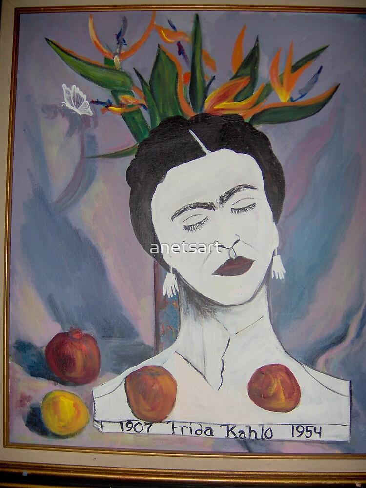 Frida Kahlo in Paradise by anetsart