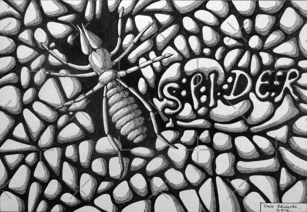 253 - SPIDER - DAVE EDWARDS - INK - 2014 by BLYTHART