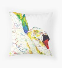 Mute Swan (Original Artwork) Throw Pillow