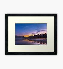 Pendleton Dawn Fantasy Lake Framed Print