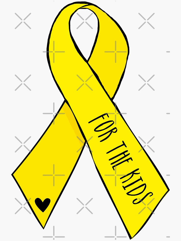 Yellow Awareness Ribbon – For the Kids (Handwritten) by alihilker