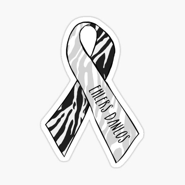 Ehlers Danlos Awareness Ribbon Sticker