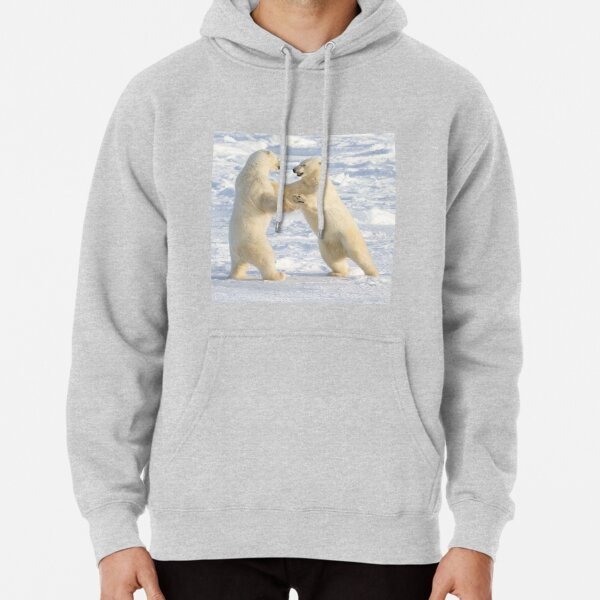 Dance of the white bears (I) Pullover Hoodie