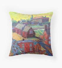 376 - RHOS SEEN FROM STIWT ROOF - DAVE EDWARDS - COLOURED PENCILS - 2013 Throw Pillow