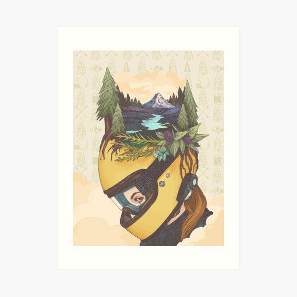 Backwoods Breakout- Women Who Ride Art Print