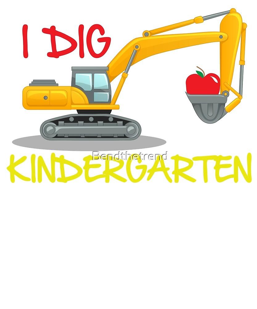 I Dig Kindergarten Excavator Illustration Start Kindergarten by Bendthetrend