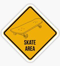 Skate park area. Sticker