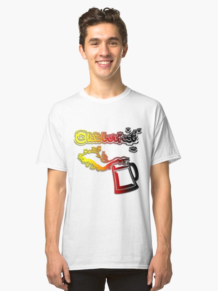 Oktoberfest Beer Splash Classic T-Shirt Front
