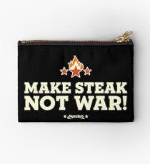 SUPERIORS ™ - MAKE STEAK NOT WAR! - Grillwear Shirt Motive - Fashion & Clothing Studio Pouch