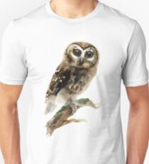 Watercolor Brown Owl T-Shirt