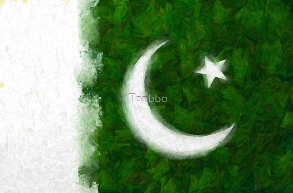 Artistic Rendition of Flag of Pakistan by Tonbbo