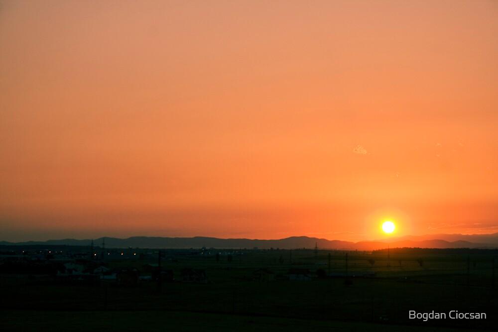 orange green scenery by Bogdan Ciocsan