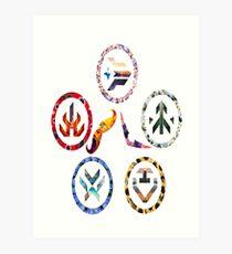 Voltron team symbols Art Print
