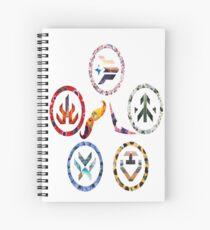 Voltron team symbols Spiral Notebook