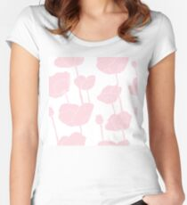 Pink poppies Women's Fitted Scoop T-Shirt