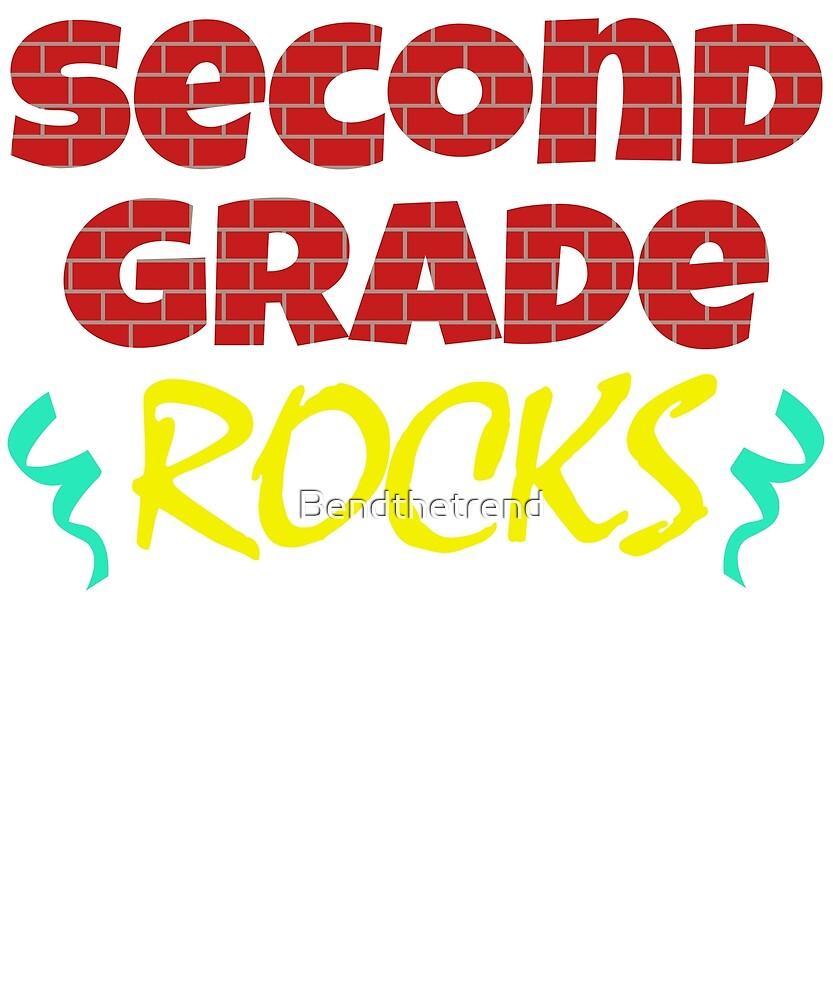 Second Grade Rocks 2nd Grader Best Grade by Bendthetrend