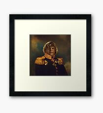 satirical portrait - Chris Farley  Framed Print