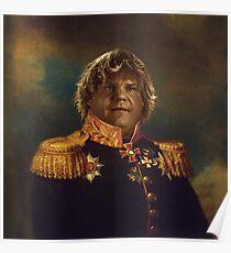 satirical portrait - Chris Farley  Poster