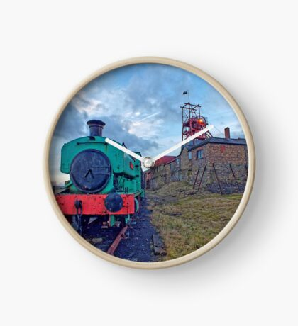 Steam Tender at Welsh Coal Mine, Wales / UK Clock