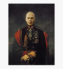 A satirical portrait - Michael Keaton Photographic Print