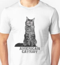 American Catriot Funny Cat USA flag shades  T-Shirt