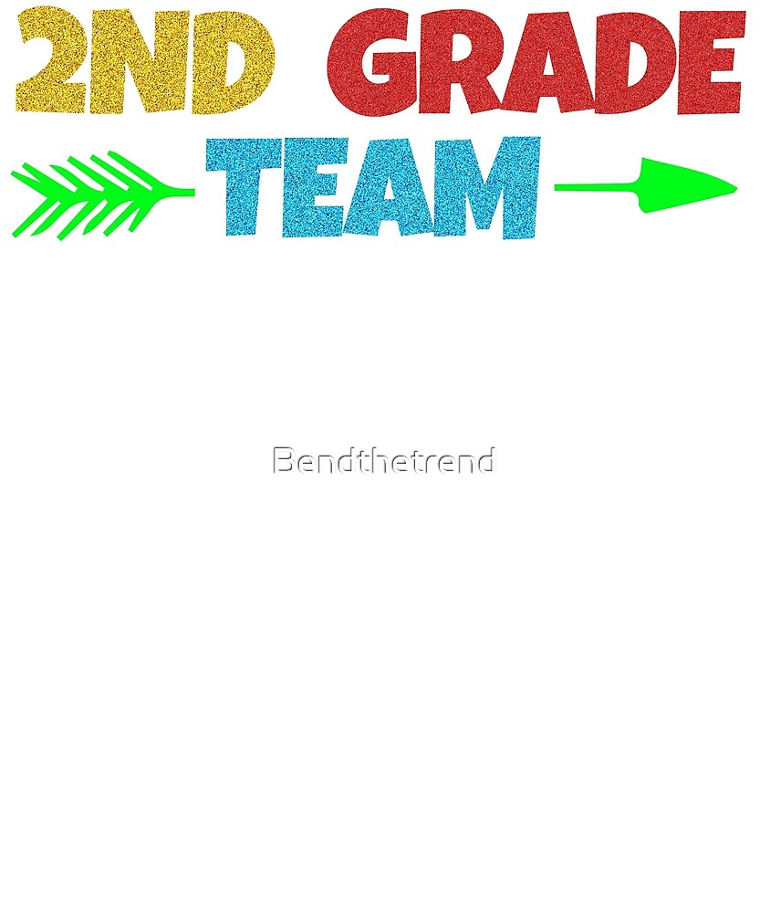 2nd Grade Team School Cool Second Graders Group by Bendthetrend