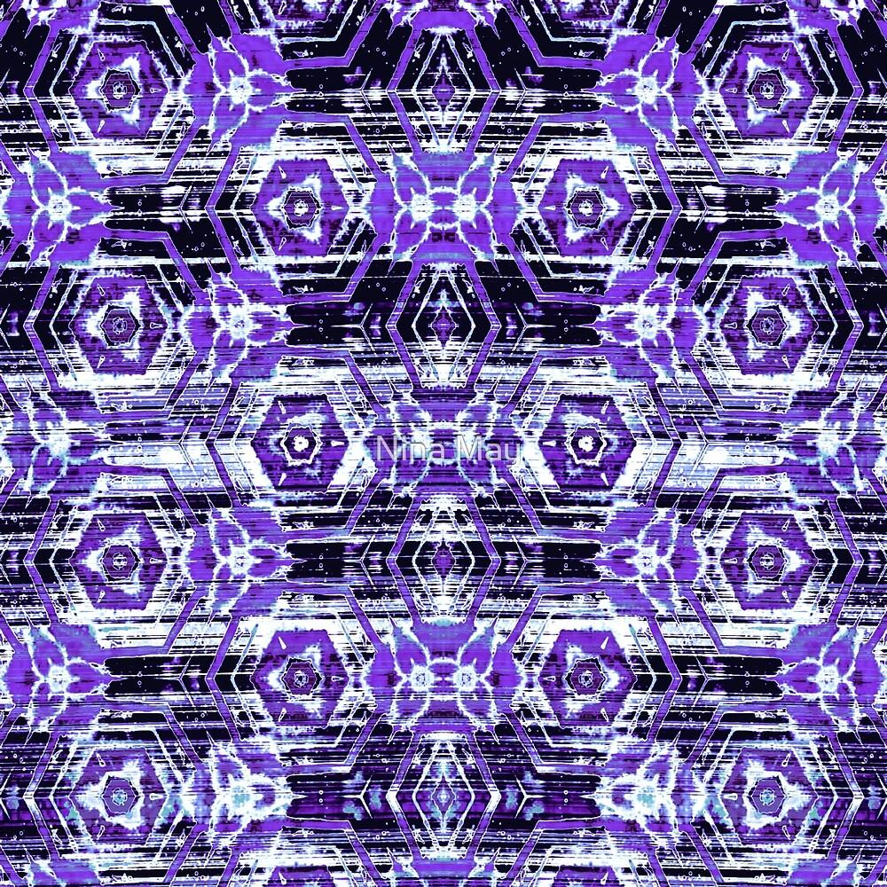 Boho Batik Purples by Nina May