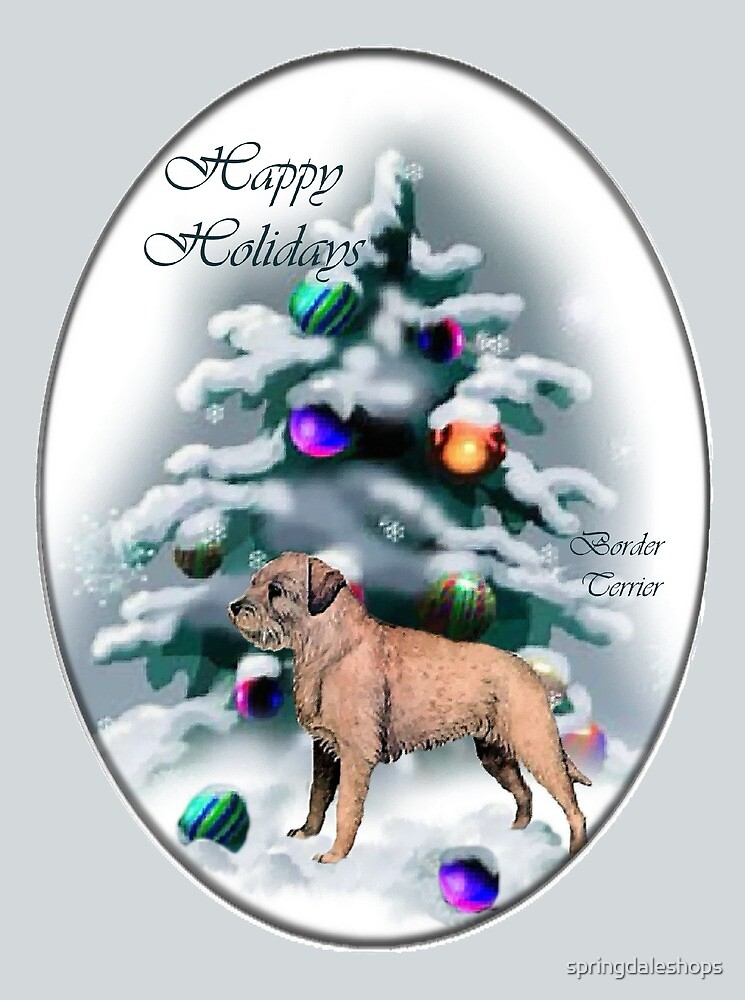 Border Terrier Christmas Gifts by springdaleshops