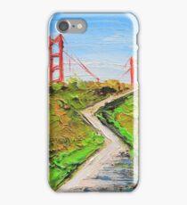 Golden gate bridge art iPhone Case/Skin