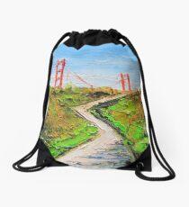 Golden gate bridge art Drawstring Bag