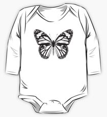 Monarch Butterfly | Black and White One Piece - Long Sleeve