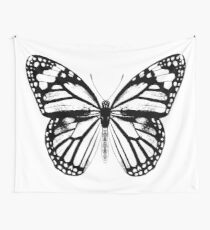 Monarch Butterfly | Black and White Wall Tapestry