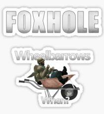 Foxhole - Wheelbarrows Sticker
