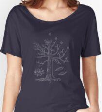 Camiseta ancha para mujer El árbol blanco de Gondor