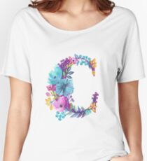 Floral Monogram C Women's Relaxed Fit T-Shirt
