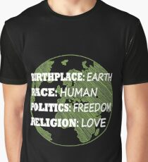 Birthplace Earth Race Human Women Rights Equality Liberal Spiritual  Graphic T-Shirt